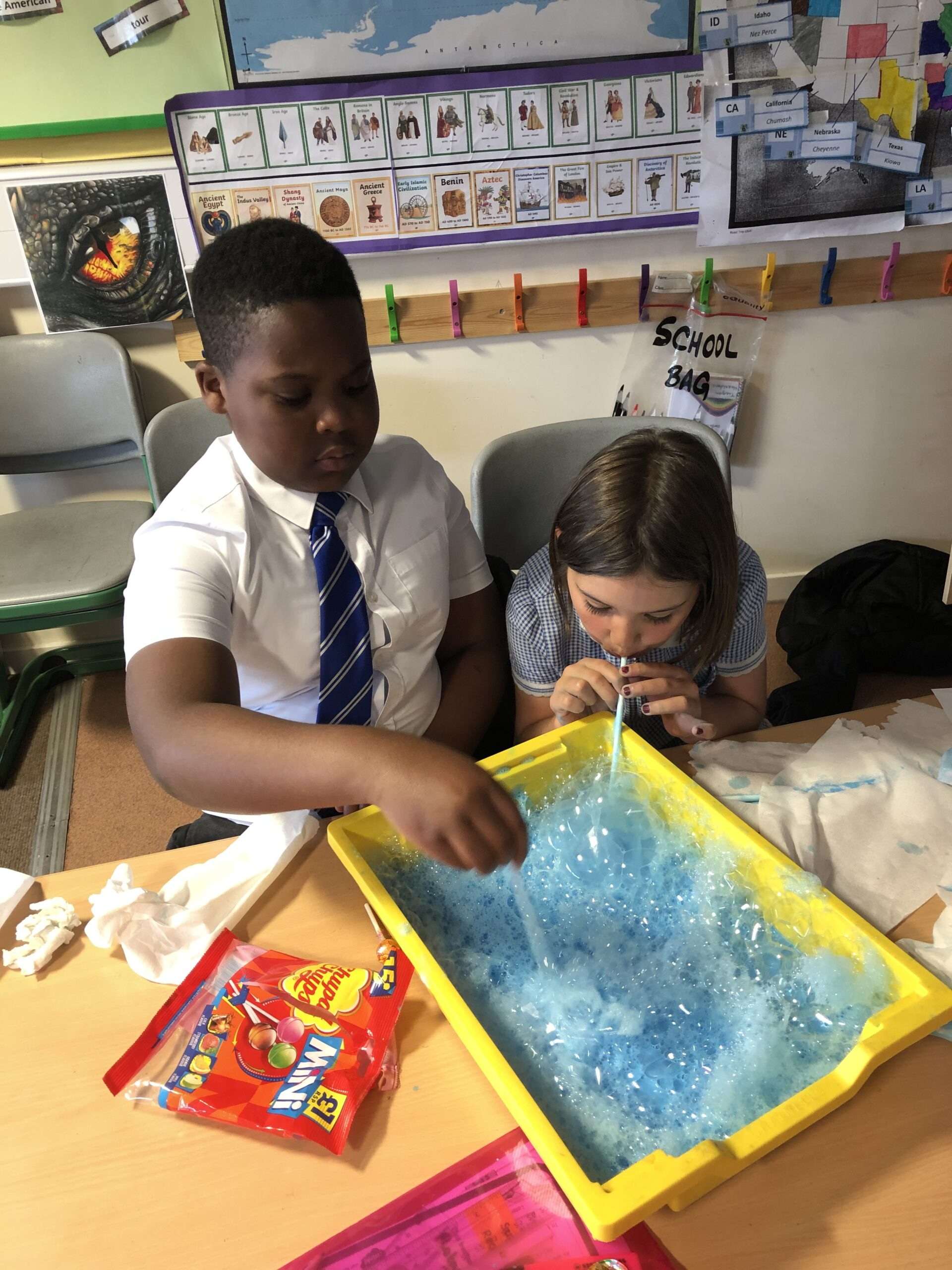 Y4 Bubble Painting